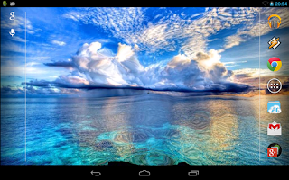 Screenshot of Blue Sea. Live Wallpaper.