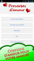 Screenshot of French Love Quotes