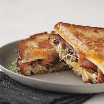 Grilled Cheese with Bacon, Apple, and Sprouts