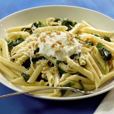 Penne with Ricotta and Pine Nuts