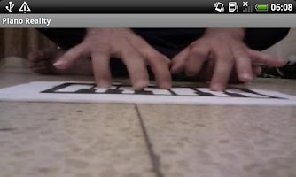 Screenshot of (Augmented) Piano Reality