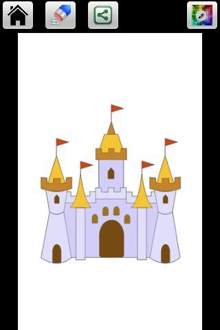 城堡畫顏色