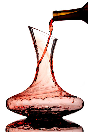 Weekend At Britney's by Britney Brown Duggan - Food & Drink Alcohol & Drinks ( wine, reflection, decanter, beautiful, motion,  )