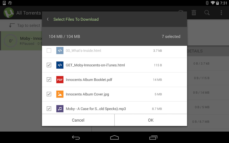 µTorrent®- Torrent Downloader – Screenshot