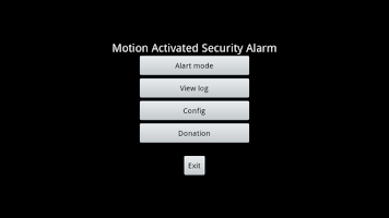Screenshot of Security Alarm Free