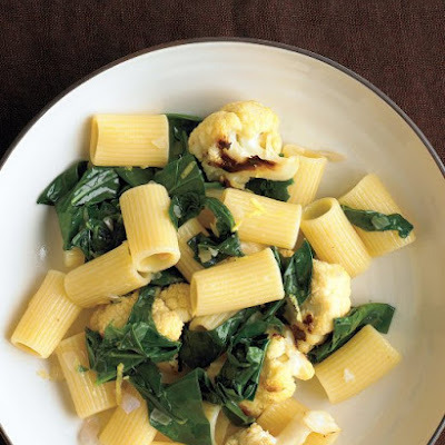 Pasta with Cauliflower and Collards