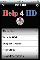 Screenshot of Help4HD Huntington's Disease