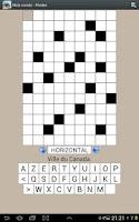 Screenshot of French crosswords