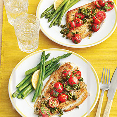 Sautéed Fish Fillets with Tomatoes and Capers