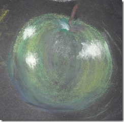 pastels 1 green apple