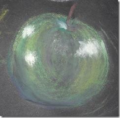 pastels 1 green apple