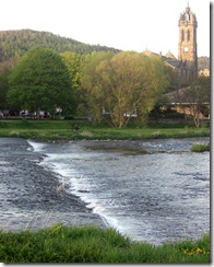 peebles spring evening walk with heron!