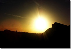 edinburgh royal mile silhouette