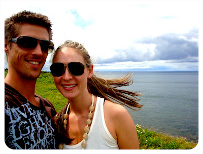 us on a cliff in pei