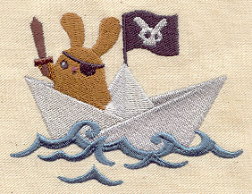 Paper Boat Pirate Bunny