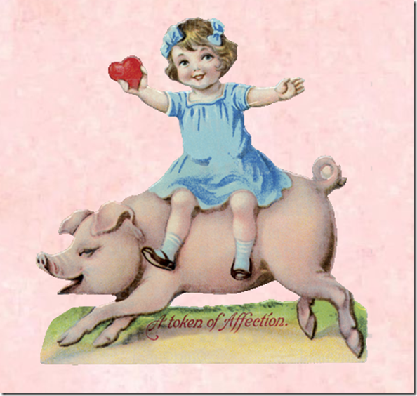 girl on pig