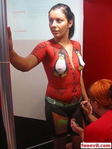 body painting lucu dan unik