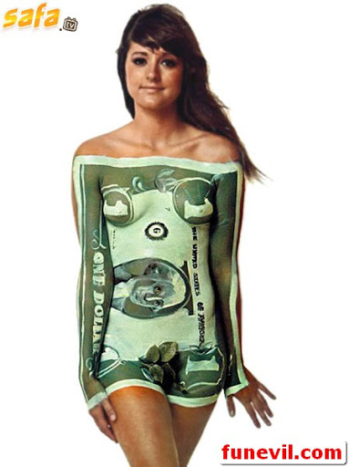 Body painting clothes