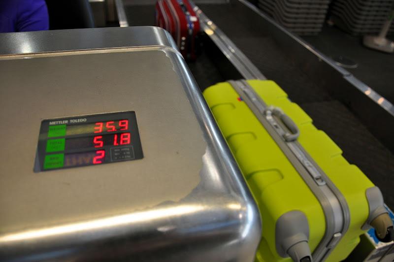 Небольшой перевес багажа :)
