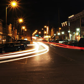Light Trails by Adam Favre - City,  Street & Park  Street Scenes