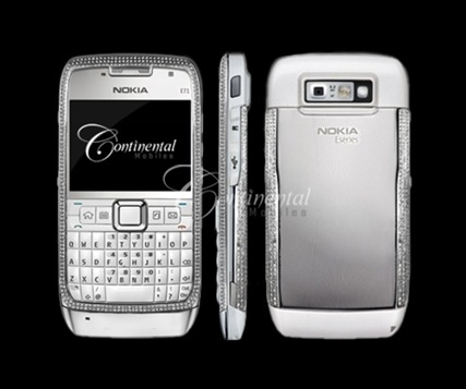 Nokia_E71_White_Diamond_Encrusted_Luxury_Mobile_Phone