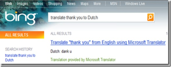 Bing Translate Dutch