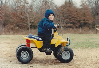 Tyler on 4-wheeler 2