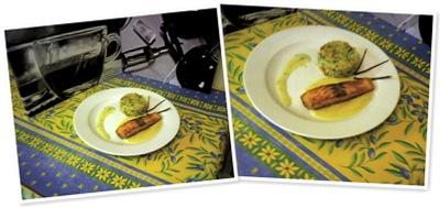 Afficher pavé de saumon vin blanc et piment d'espelette