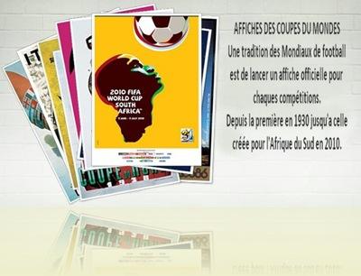 Affiches des Coupes du Monde de Football