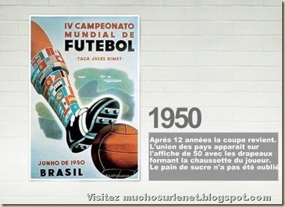 Affiche Brésil 1950