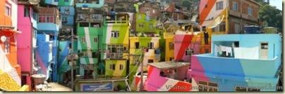 Repeindre les favela, Santa Marta, Brésil-9