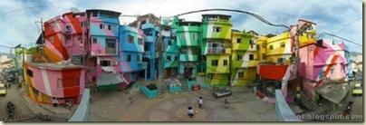 Repeindre les favela, Santa Marta, Brésil-7