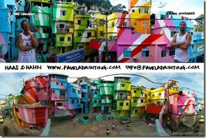 Repeindre les favela, Santa Marta, Brésil-10