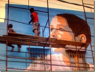 Repeindre les favela, Santa Marta, Brésil-18