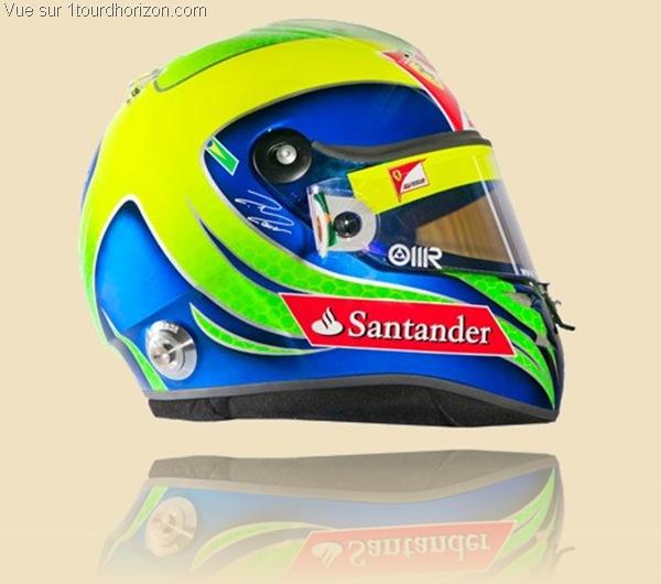 Casque des pilotes de formule 1 - Felipe Massa