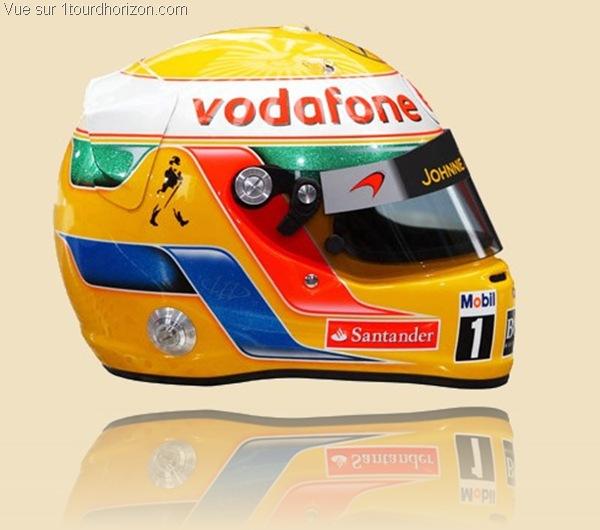 Casque des pilotes de formule 1 - Lewis Hamilton