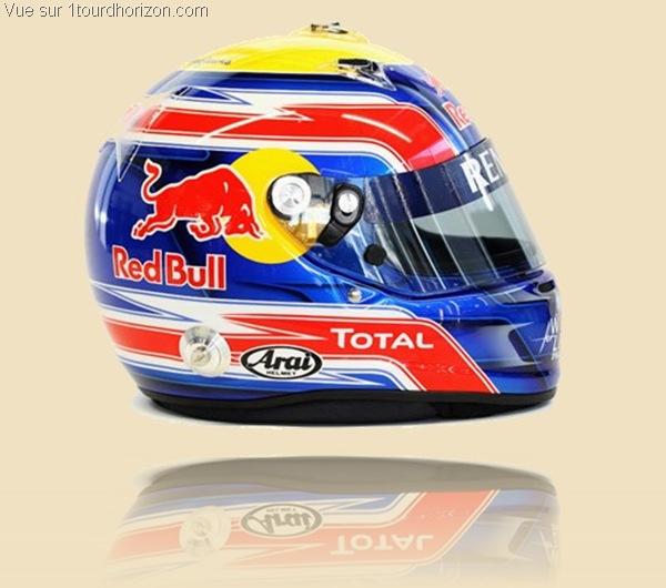 Casque des pilotes de formule 1 - Mark Webber