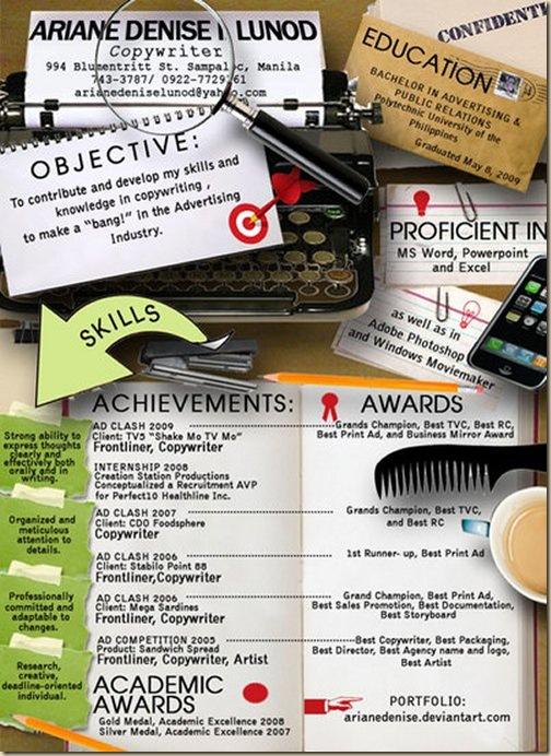 CV original et creatif