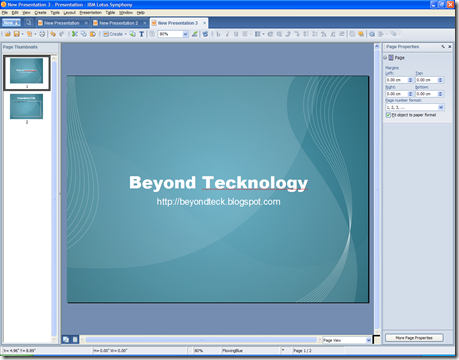 Great free powerpoint openoffice symphony templates beyond teck - Open office impress templates ...