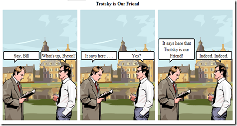 Witty Comics - Trotsky is our friend