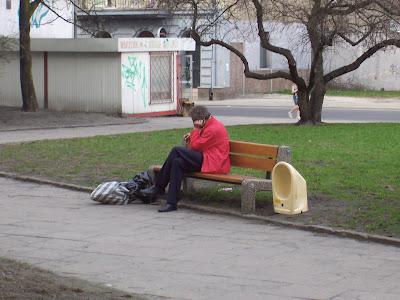 Mężczyzna na ławce