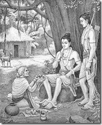 shabari feeding Rama