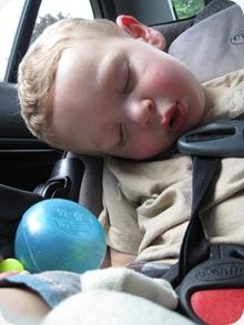 asleepincar