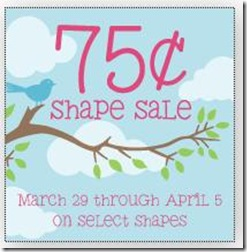 75 cent shape sale