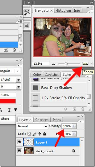 Zoom and opacity