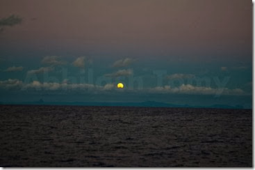 Moonrise over Mauritius