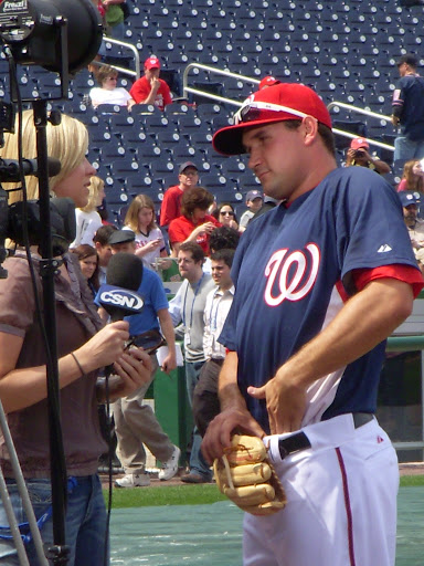 Ryan Zimmerman...adjusting his jersey?