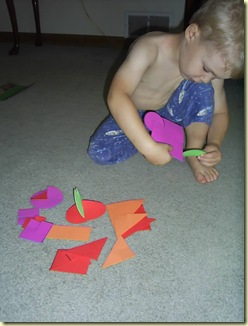 foam shapes with slits