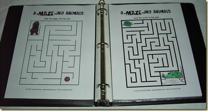 pre-writing skills game binder