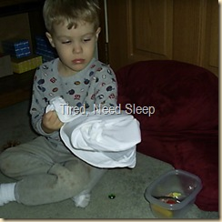 sensory game with pillow case
